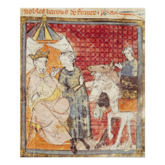 Roland som bjuder avsked till Charlemagne Poster