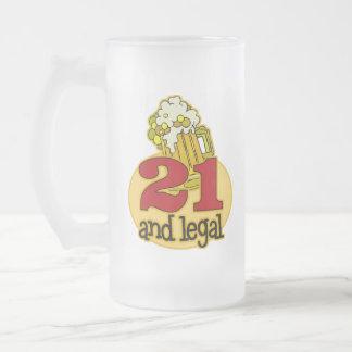 Rolig 21st födelsedaggåva frostad glas mugg