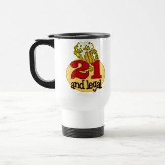 Rolig 21st födelsedaggåva kaffe kopp