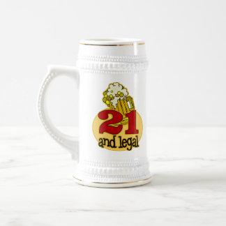 Rolig 21st födelsedaggåva ölkrus