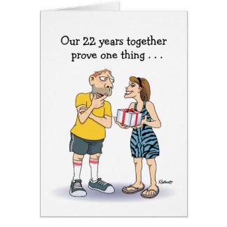 Rolig 22nd årsdag hälsningskort
