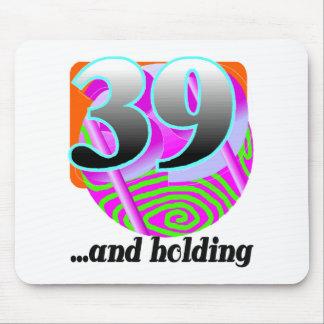 Rolig 39th födelsedaggåva mus matta