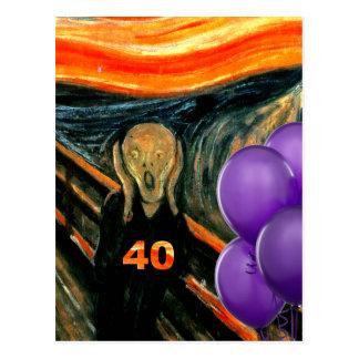 Rolig 40th födelsedag vykort