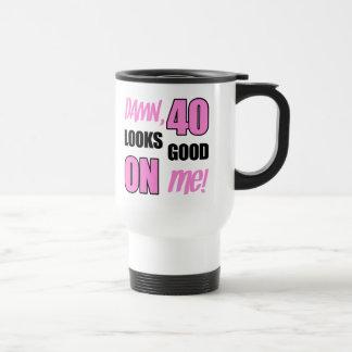 Rolig 40th födelsedagGaggåva Rostfritt Stål Resemugg