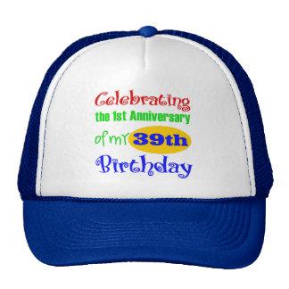 Rolig 40th födelsedaggåva kepsar