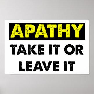 Rolig affisch för apati poster