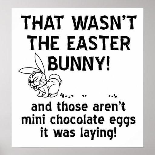 """Rolig affisch """"för choklad"""" ägg"""