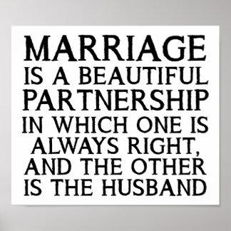 Rolig affisch för giftermålargument
