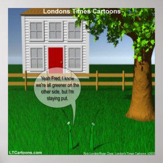 Rolig affisch för grönt grönt gräs poster