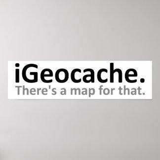 rolig affisch för iGeocache