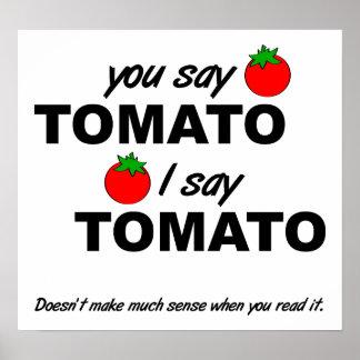 Rolig affisch för tomattomat poster