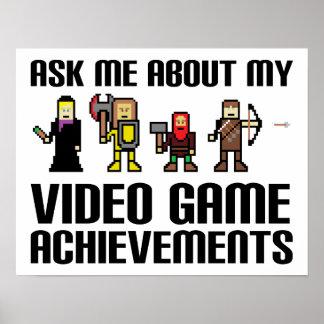 Rolig affisch för videospelprestationer poster