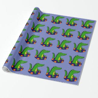 Rolig alligator i inre rör presentpapper