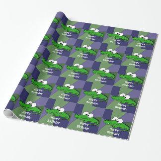 Rolig alligatorkonst presentpapper