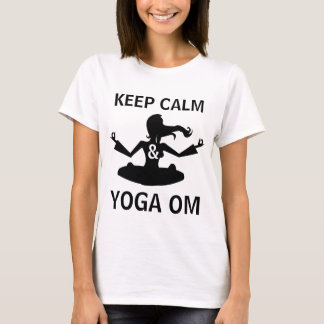 Rolig anpassade för behållalugn- och YogaOM T Shirts