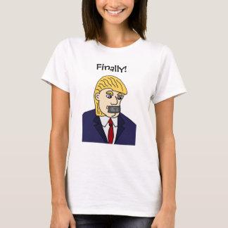 Rolig Anti Donald Trump politisk tecknad Tee Shirt