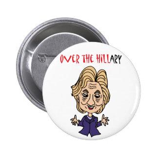 Rolig Anti Hillary Clinton politisk konst Standard Knapp Rund 5.7 Cm