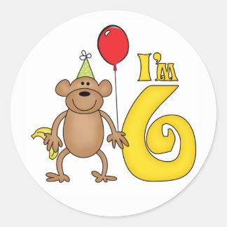 Rolig apa6efödelsedag klistermärken