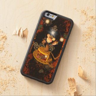 Rolig apasitta på en hatt carved lönn iPhone 6 bumper skal