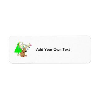 Rolig återgång etikett för julren returadress etikett