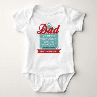 Rolig baby Onsie för fars dag Tröjor