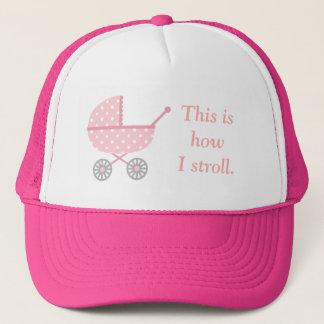 Rolig babybarnvagn för att mammor ska vara lock keps