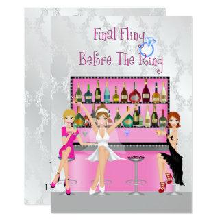 Rolig Bachelorette partyinbjudan 12,7 X 17,8 Cm Inbjudningskort