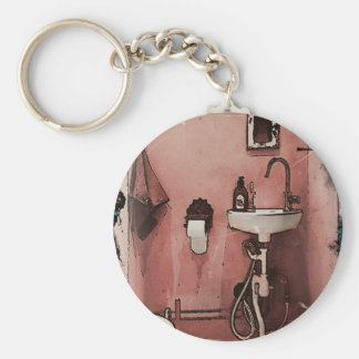 Rolig badrum rund nyckelring