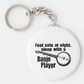 Rolig Banjo Rund Nyckelring