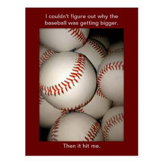 Rolig baseballvykort, vitsar, Postcrossing sportar Vykort