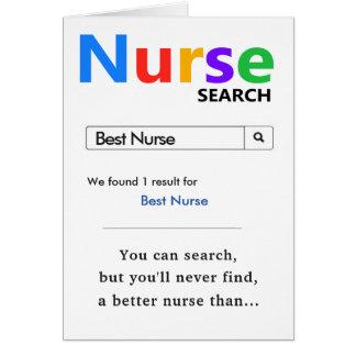 Rolig bäst sjuksköterskagåva hälsningskort