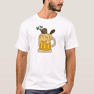 Rolig bäver i ölmugg t shirts