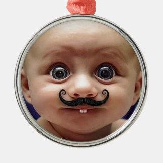 rolig bebis julgransprydnad metall