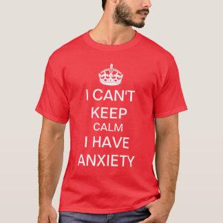 Rolig behållalugn och bär på ångestparodi t shirts