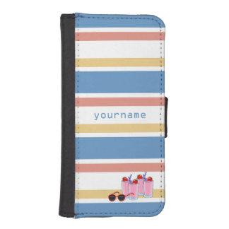Rolig beställnings- plånbokcases för sommar iPhone SE/5/5s plånboksfodral