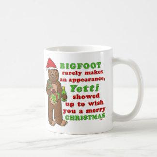 Rolig Bigfoot god julSasquatch vits Kaffemugg