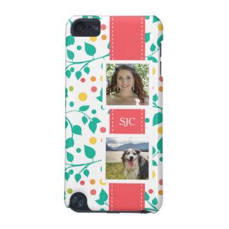 Rolig blommönster med foto och initialer iPod touch 5G fodral