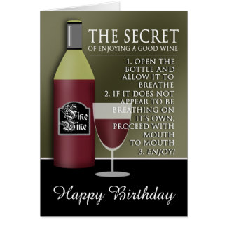 Rolig bra vinfödelsedag hälsningskort