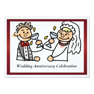 Rolig bröllopsdaginbjudan 12,7 x 17,8 cm inbjudningskort