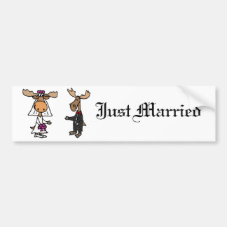 Rolig brud och brudgumälgbröllop bildekal