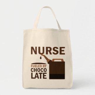 Rolig) choklad för sjuksköterska ( mat tygkasse
