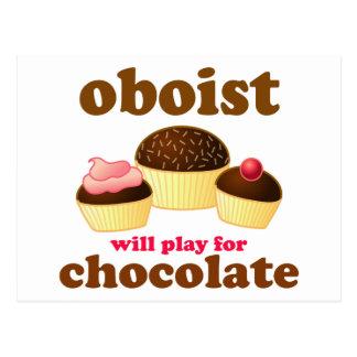 Rolig chokladOboe vykort