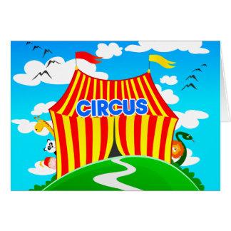 Rolig cirkus, hälsningkort hälsningskort