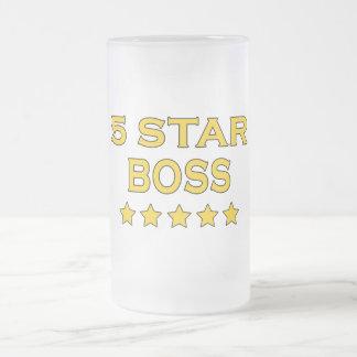 Rolig coolachefer: Chef för fem stjärna Frostad Glas Mugg