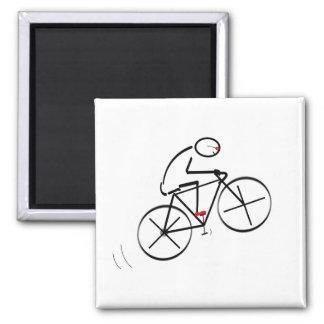 Rolig cyklistdesign magnet