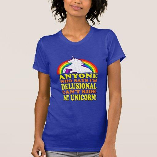 Rolig Delusional Unicorn (bekymrad vintage) T Shirt