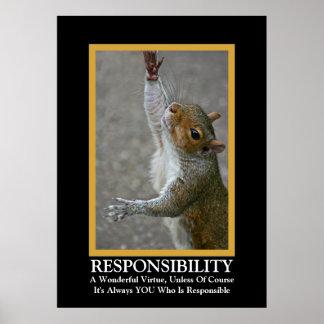 Rolig Demotivational för ansvar~ affisch