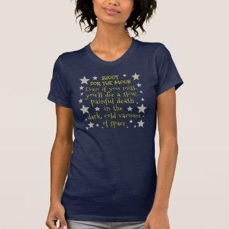 Rolig Demotivational rymdenmåne T Shirts