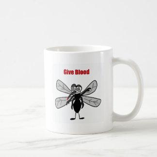 Rolig design för blod för myggaordstävge kaffemugg