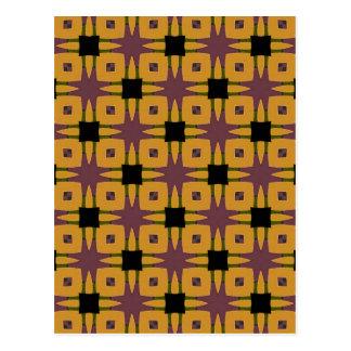 Rolig design för Retro starburst Vykort